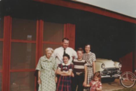 1034 Audubon Drive. Circa 1954, Handwerkers family.