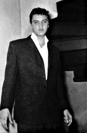 September 2, 1955. Elvis Presley backsta