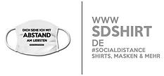 #socialdistance Shirts, Masken - sdshirt.de