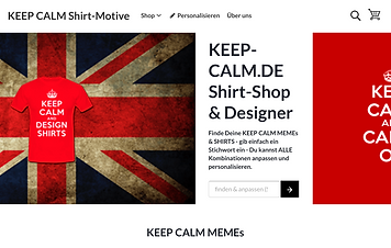 "Keep-Calm-Shirt.de - T-Shirts mit abgewandelter ""KEEP CALM MEME"""