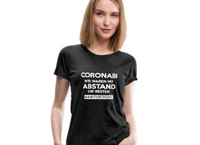 CORONABI Wir sind mit ABSTAND die Besten - ABITUR 2020 - CORONABITUR - AbiShirt 2020