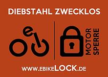 ebikelock.de Aufkleber / Sticker für eBikeMotorsperre