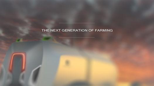 Future of farming, Eco farming, Future Agriculture, green farming. Future Farm Tractor