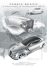 Pebble Beach Concours d' elegance 2017 official poster, Pebble Beach car concepts fure design