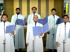 Bangalore Archdiocesan Priests Choir Sings Glory to The Risen Lord