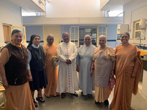 Archbishop Peter visited the senior Nuns of St Joseph of Tarbes