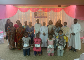 Distribution of Tablet to the deserving girls by Archdiocesan Women's Commission.