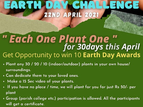 Earth Day Challenge by Archdiocesan Youth Commission