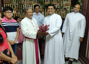 Bishop Peter Machado visits Holy Trinity Church, Sahakarnagar