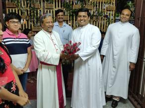 Bishop Peter Machado visits Holy Trinity Church, Sahakarnagar