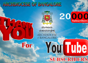 Bangalore Archdiocese YouTube Channel registers 20K Subscribers