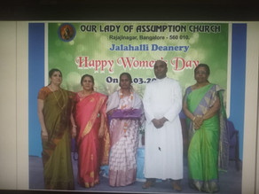 Women's Day celebrations at Our Lady of Assumption Church, Rajajinagar