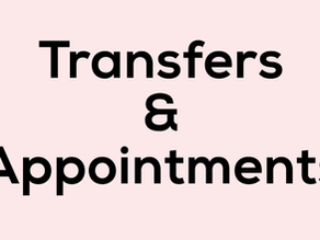 List of Transfers & Appointments 2020