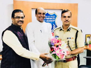 Archbishop sends greetings to Bangalore's new Police Commissioner