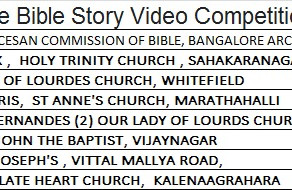 Winners of the Bible story video competition (Children)