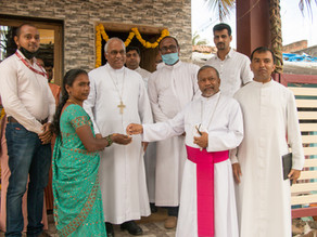 Seven Families – Beneficiaries of New Homes through the aid of Archdiocese of Bangalore