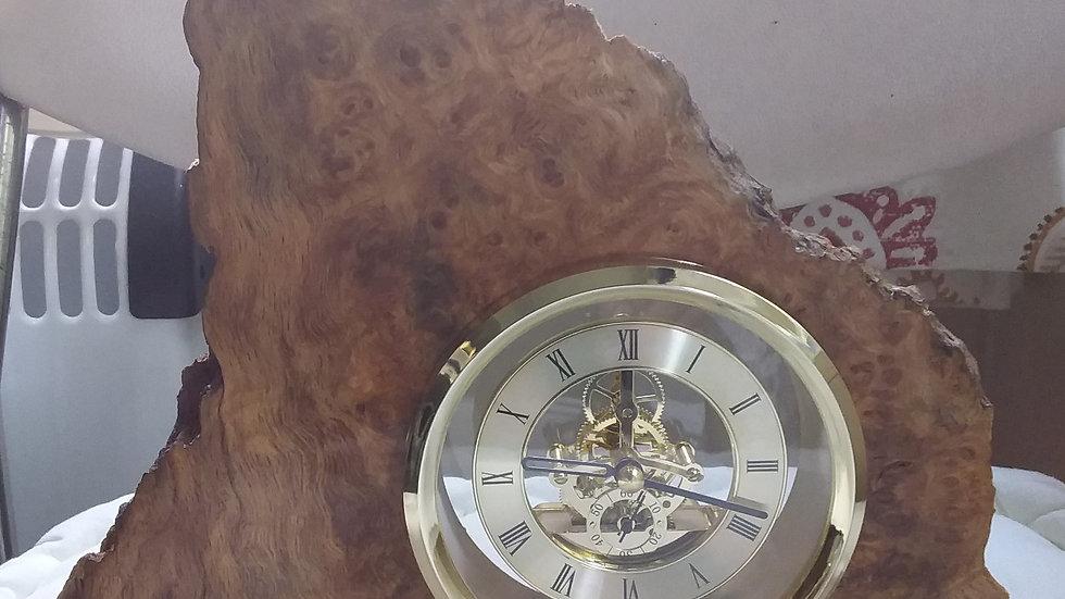 Burr Oak skeleton Clock
