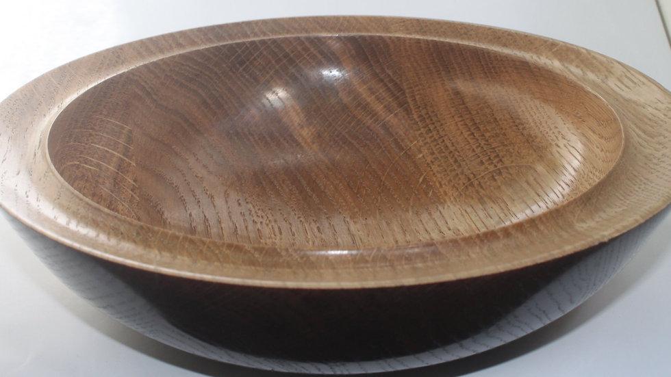 Part Coloured Oak Bowl