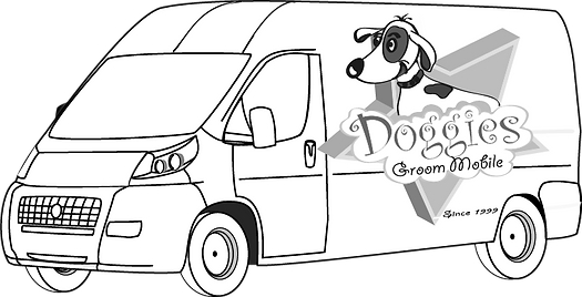 truck, drawing ram truck, commercial vehicle, dog grooming truck, pet grooming truck, ram promaster