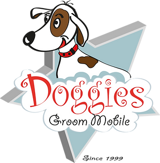 logo, doggie's groom mobile logo, dog, dog washing, happy dog