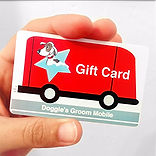 gift card, grooming gift card, pet grooming gift card, dog grooming gift card, doggie's groom mobile, doggie's groom mobile gift card