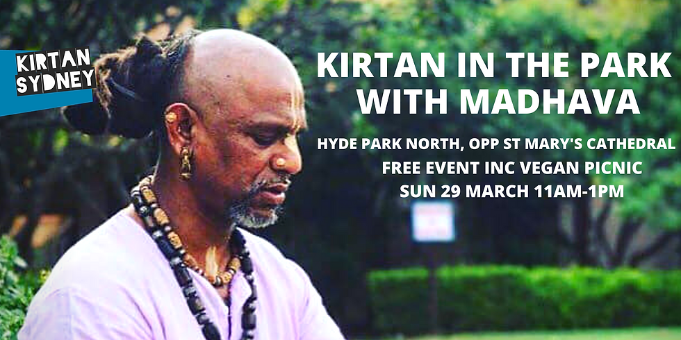 Kirtan in the Park with Madhava