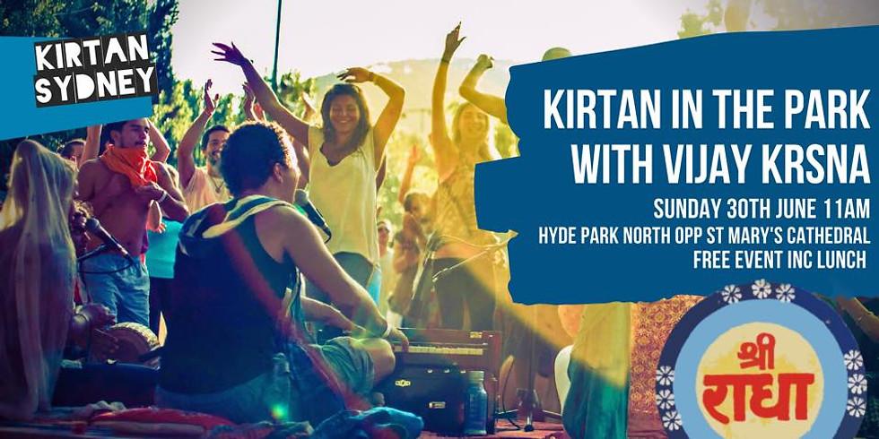 Kirtan in the Park with Vijay Krsna