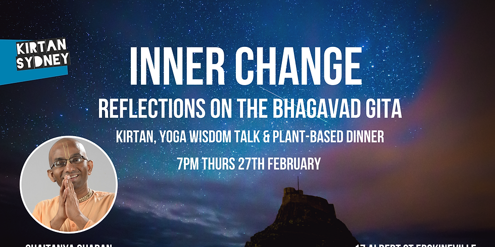 Yoga-Wisdom Talk & Mantra Meditation with Chaitanya Charan at Bhakti House
