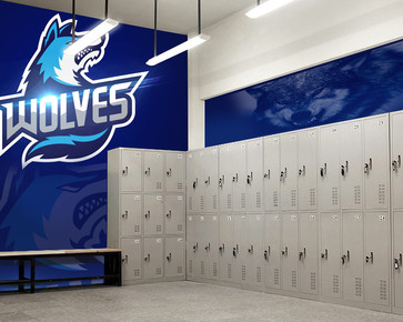 Wall Graphics for School Locker Room
