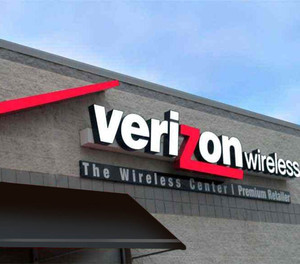 Exterior Retail Sign Fabrication for Verizon