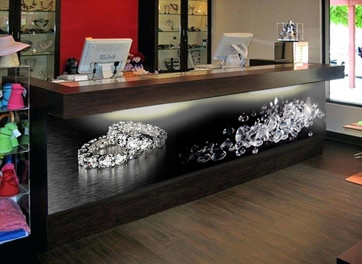 Counter Graphics for Retail Stores