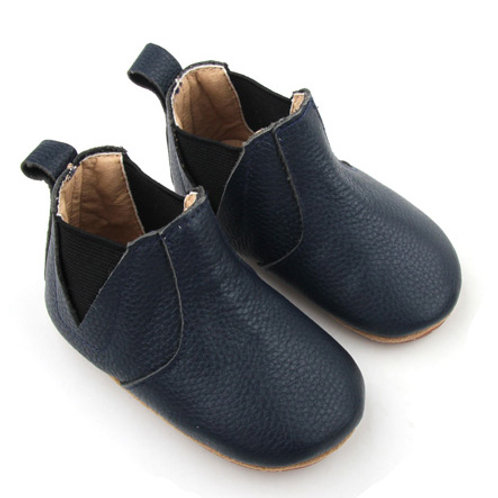 Leather Chelsea Boot - Navy