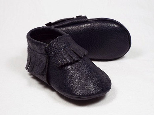 Leather Baby Moccasin - French Sailor