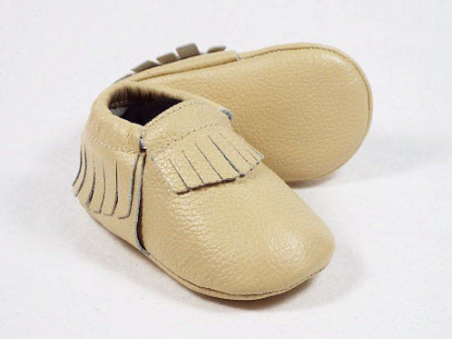Leather Baby Moccasin - Toasted Meringue