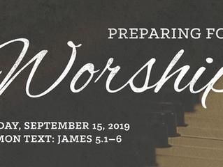 Preparing for Worship | Sunday, September 15