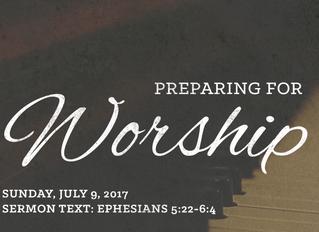 Preparing for Worship: July 9