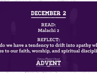 Advent Devotional   December 2