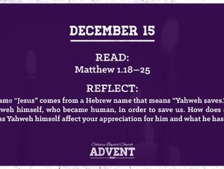 Advent Devotional | December 15