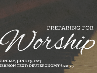 Preparing for Worship: June 25