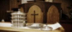 Worship communion table pulpit sanctuary