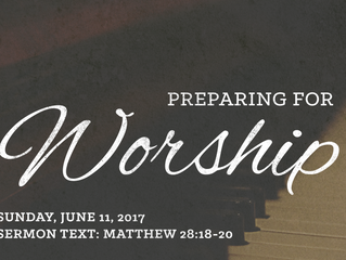 Preparing for Worship: Trinity Sunday - June 11