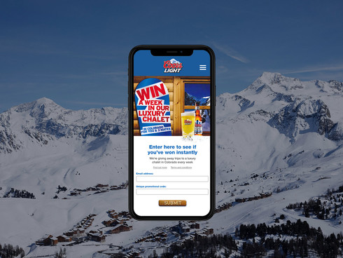 Coors Light promotional microsite