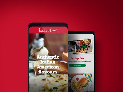 Frankie & Benny's app and website