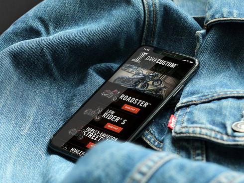 Harley-Davidson Dark Custom website