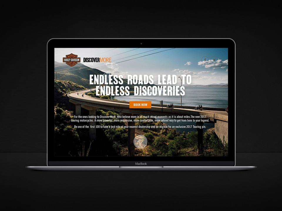 Harley-Davidson Discover More website