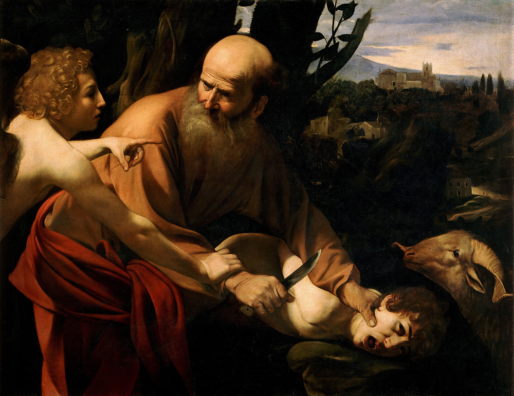 Le sacrifice d'Isaac, tableau du Caravaggio