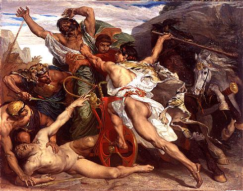 """""""Le Meutre de Laios"""", de Joseph Blanc, 1867"""