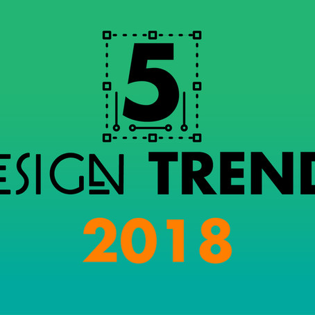 5 Grafische trends 2018