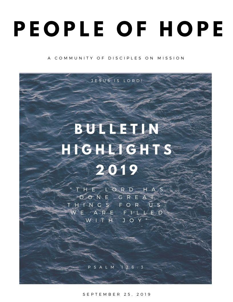 BULLETIN HIGHLIGHTS 2019