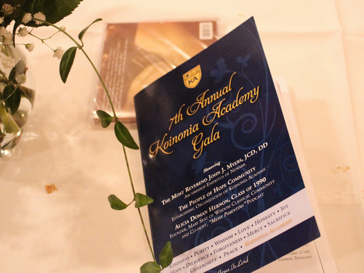 The People of Hope Honored at Annual Koinonia Academy Gala